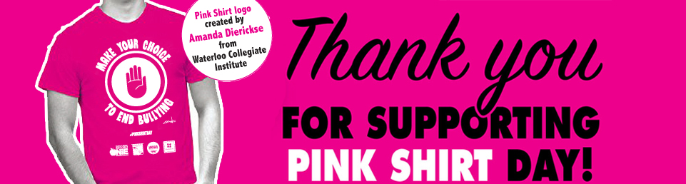 Thank you for supporting this years #Pinkshirtday